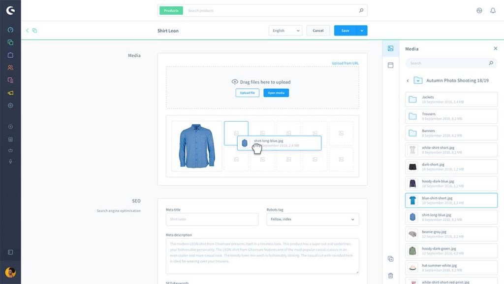 Shopware 6 interface